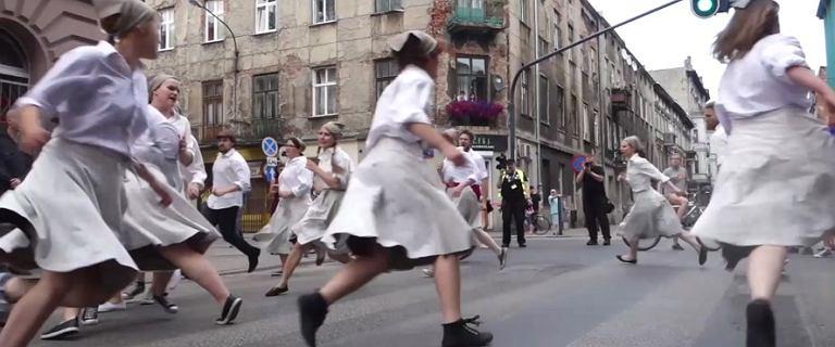 Piotrkowska. Obchody rocznicy rewolucji 1905 r.