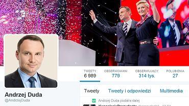 Profil Andrzeja Dudy na Twitterze