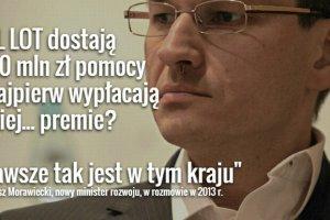 Morawiecki, nowy wicepremier PiS, te� pods�uchany przez kelner�w. Jest nagranie