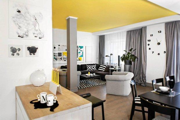 salon, łączenie kolorów