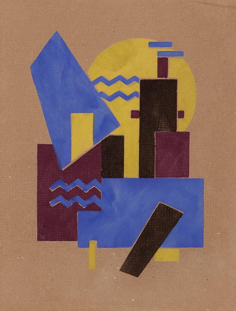 Sándor Bortnyik, Ilustracja do czasopisma 'MA', 1921  /  Janus Pannonius Muzeum
