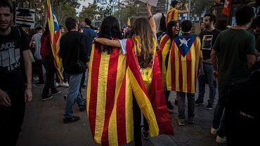 Katalończycy w centrum Barcelony