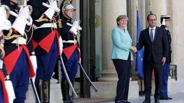 Merkel ju� po spotkaniu z Hollandem. Rozmawiali o przysz�o�ci eurogrupy