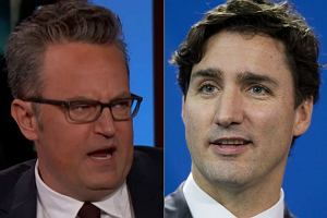 Matthew Perry i Justin Trudeau