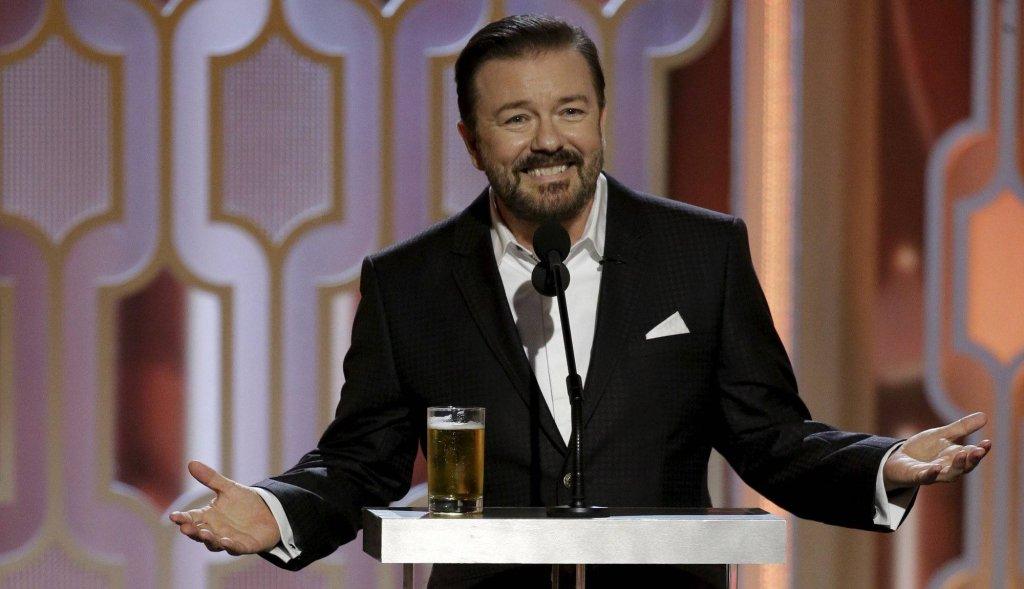 Z�ote Globy 2016 - Ricky Gervais