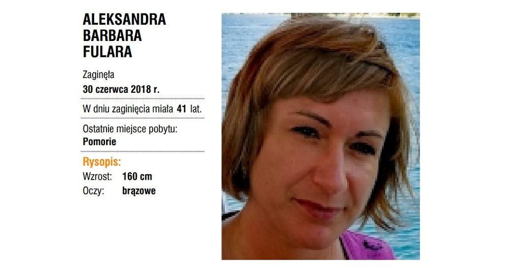 Zaginiona Aleksandra Barbara Fulara