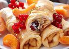 Nale�niki z serkiem, owocami i miodem