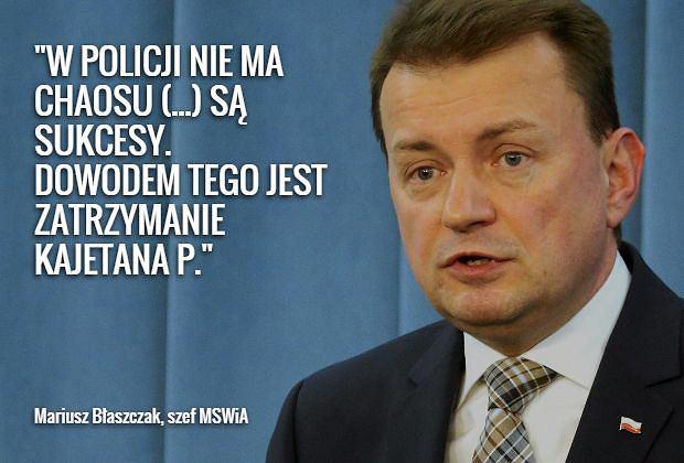 Mariusz B�aszczak o wniosku PO w sprawie swojego odwo�ania