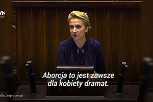 Pos�anka Nowoczesnej grzmi z m�wnicy: 'Dlaczego nienawidzicie polskich kobiet?'
