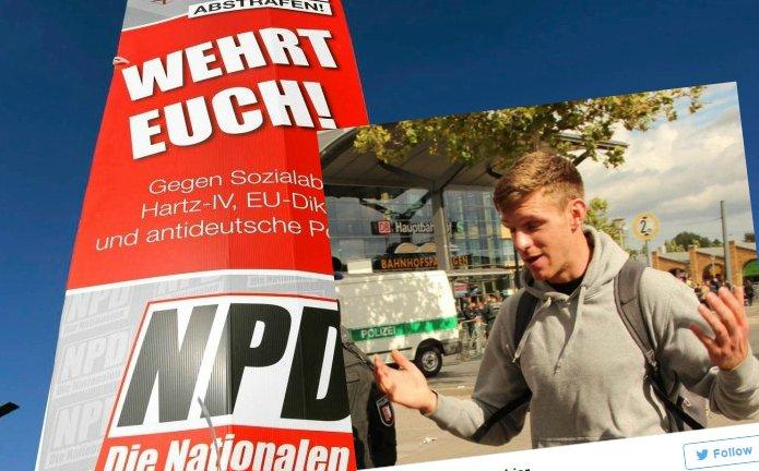 Działacz NPD został aresztowany za podpalenie polskiego samochodu