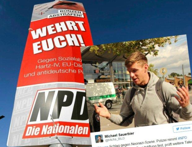 Dzia�acz NPD zosta� aresztowany za podpalenie polskiego samochodu
