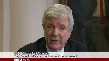 Tony Hall ogłasza decyzję o zwolnieniu Clarksona