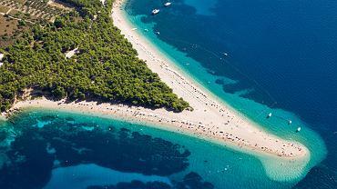 Chorwacja plaże - Zlatni Rat, Bol, wyspa Brac