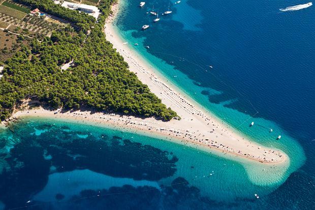 Chorwacja pla�e - Zlatni Rat, Bol, wyspa Brac
