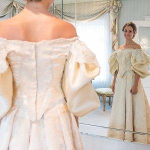 Jak wygl�da 120-letnia suknia �lubna? A raczej co z niej zosta�o? Nosi�o j� ju� 11 kobiet