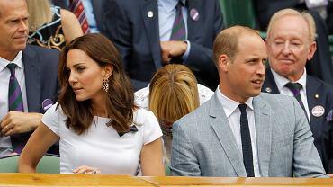Księżna Kate i książę William oglądają finał tenisowych rozgrywek Wimbledonu. Londyn, 16 lipca 2017 r.
