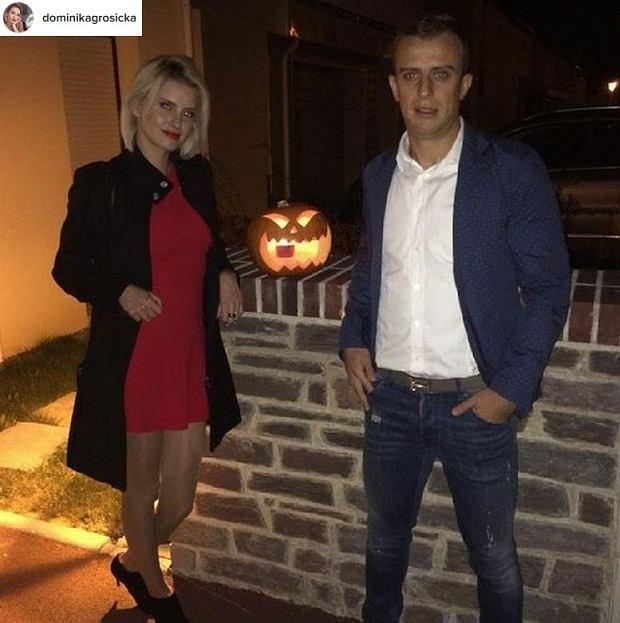 Kamil Grosicki z żoną Dominiką