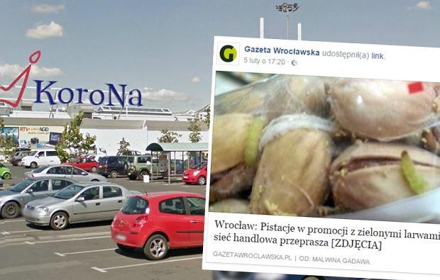 Zobaczył, że w Auchan we Wrocławiu jest promocja. W paczkach znalazł zielone robaki