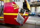 Wypadek na skrzyżowaniu Piotrkowskiej i Radwańskiej