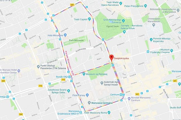 Parada Równości w Google Maps. Oto trasa Parady Równości