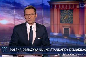 """Jak pokazać, że Tusk wygrywa, ale rząd PiS osiąga swój cel? """"Wiadomości"""" potrafią"""