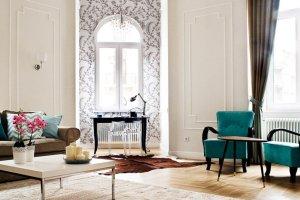 Wnętrza: apartament w Budapeszcie