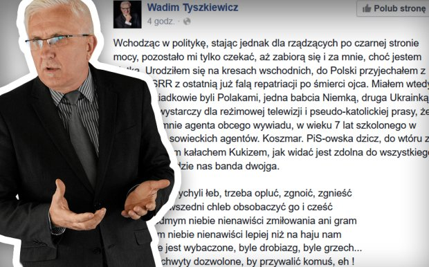 Wadim Tyszkiewicz broni Petru na FB