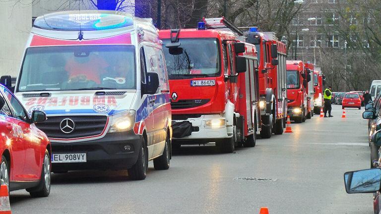 Wydział Chemii UW - ewakuacja budynku po wybuchu
