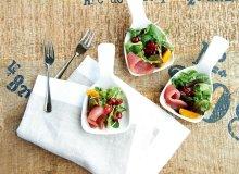 Sashimi na mandarynkach i sałacie - ugotuj
