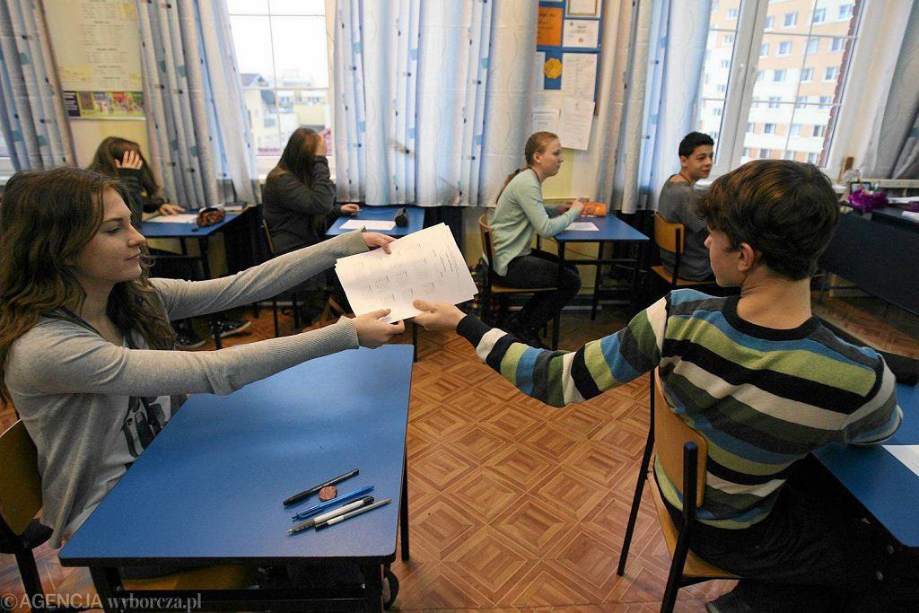 Próbny egzamin gimnazjalny z języka obcego w Gimnazjum nr 46