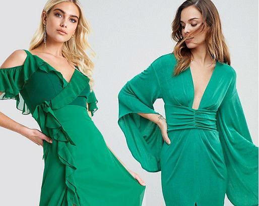 sukienki szmaragdowa zieleń