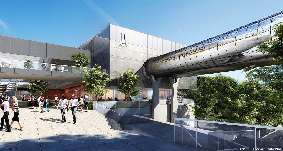 Wizualizacja stacji hyperloopa