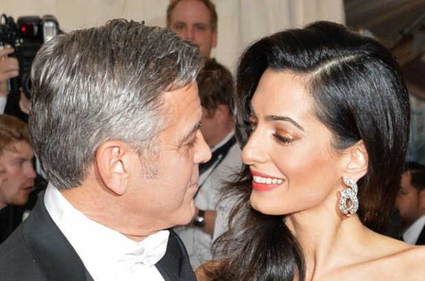 George Clooney and Amal Clooney arrive at The Metropolitan Museum of Art's Costume Institute benefit gala celebrating