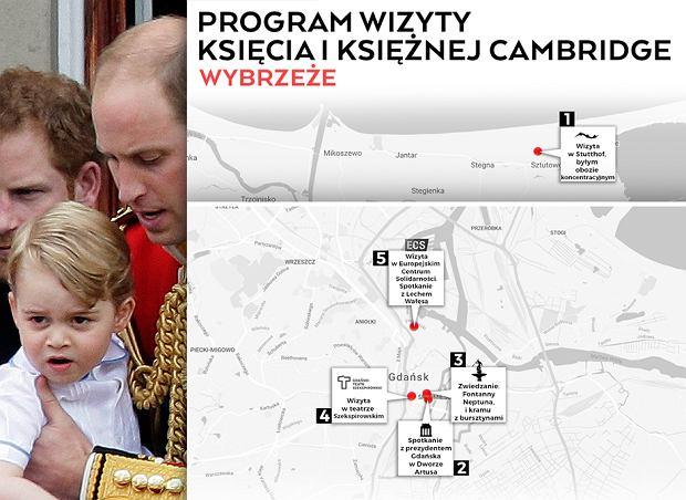 Plan wizyty pary książęcej w Gdańsku