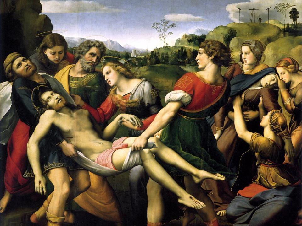 'Złożenie do grobu' - obraz Rafaela z 1507 r., obecnie znajduje się w Galerii Borghese w Rzymie