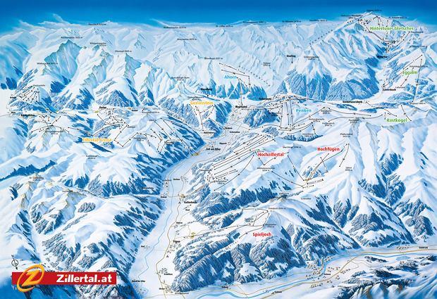 Mapa tras Zillertal