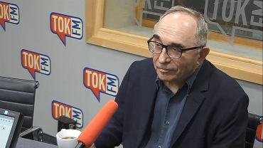 Prof. Aleksander Smolar w studiu TOK FM.