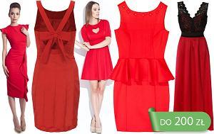 Sukienki w czerwonym kolorze do 200 z�