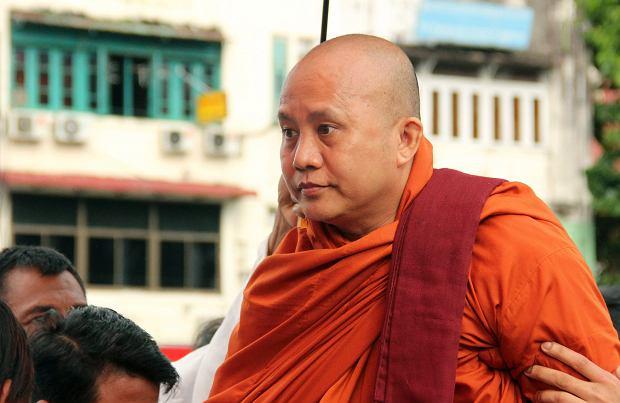Ashin Wirathu mnich i lider buddyjskich nacjonalistów w Mjanmie