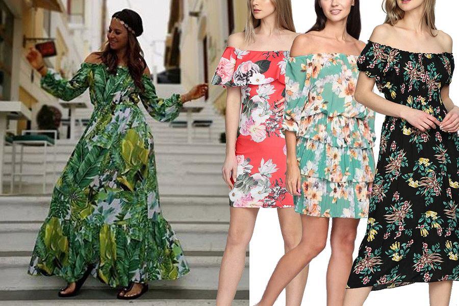 Kolaż, sukienka hiszpanka/Materiały partnera
