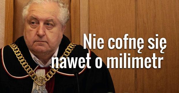 Prezes TK Andrzej Rzepli�ski