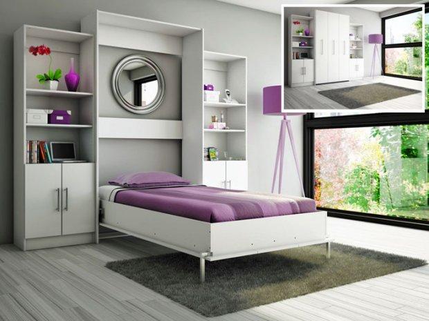 Łóżko chowane w szafie. Sposób na mały metraż - zdjęcie nr 3