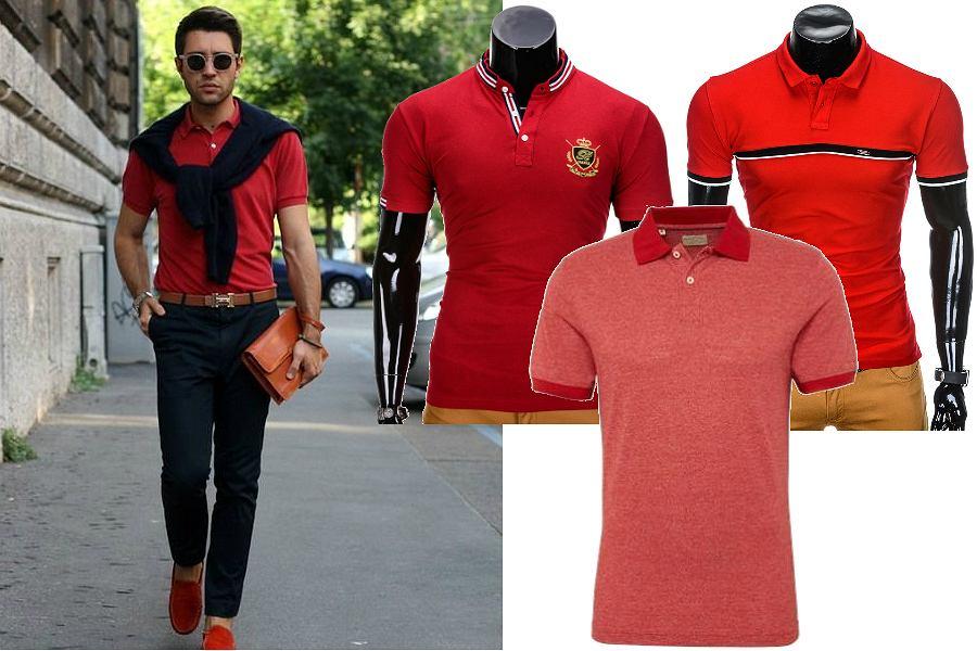 Czerwone koszulki polo