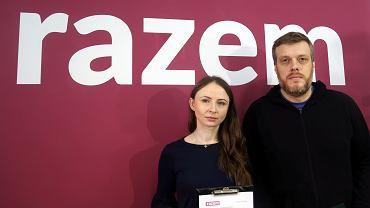 Agnieszka Dziemianowicz-Bąk i Adrian Zandberg z Razem