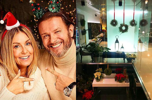 Zdjęcie numer 0 w galerii - Małgorzata i Radosław Majdanowie udekorowali dom na święta. Piękne dodatki robią wrażenie. Spójrzcie na tę choinkę!