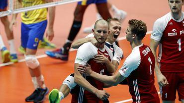 Bartosz Kurek w meczu Polski z Brazylią