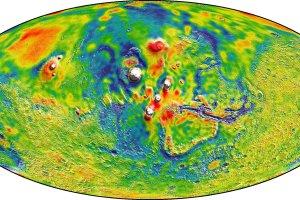 Mapa marsja�skiej grawitacji i inne ciekawostki naukowe