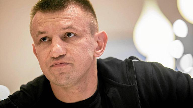 Tomasz Adamek podczas konferencji prasowej