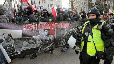 Marsz narodowców w Hajnówce