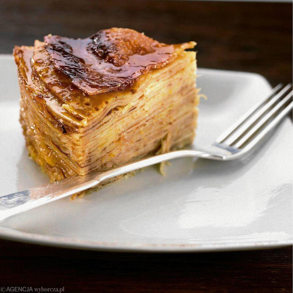 Cytrynowy tort naleśnikowy